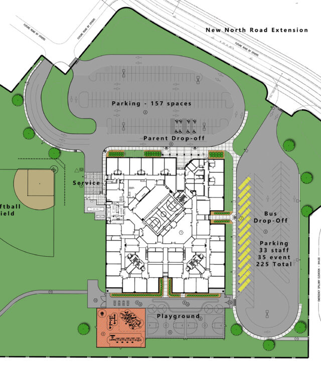 Bruce Runyon, AIA Shares Site Design for New Elementary School
